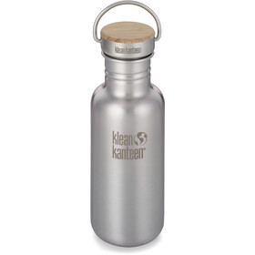 Klean Kanteen Reflect Butelka Korek bambusowy 532ml, brushed stainless